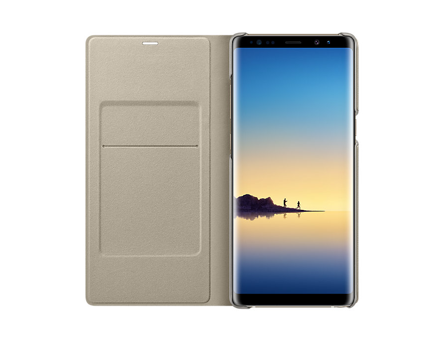 Samsung Galaxy Note 8 flipové pouzdro LED View Gold