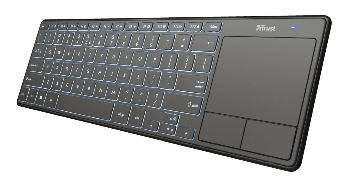 Trust Theza Wireless Keyboard with touchpad bez podsvícení